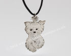 Engraved Dog, Silver Pendant