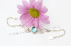 Wedding Silver Bracelet with Sky Blue Topaz