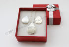 Pendant and Earring Set  with lovely stipple pattern