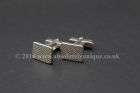 """Oblong"" Cufflinks with lovely stipple pattern"