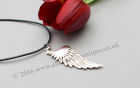 Fallen Angel Wing Pendant with Leather thong
